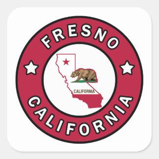 Fresno Kalifornien Fyrkantigt Klistermärke
