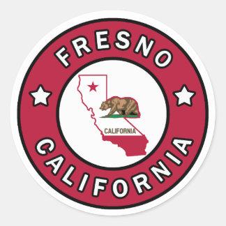 Fresno Kalifornien Runt Klistermärke