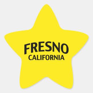 Fresno Kalifornien Stjärnformat Klistermärke
