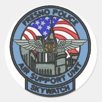 Fresno polis ASU Runt Klistermärke
