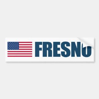 Fresno US flagga Bildekal