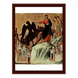 Frestelse av Kristus på berg Vykort