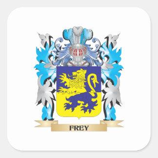Frey vapensköld - familjvapensköld fyrkantigt klistermärke