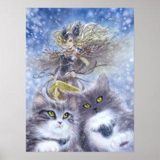 Freyja konsttryck affisch