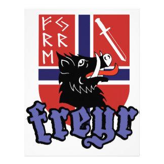 Freyr vapensköld brevhuvud
