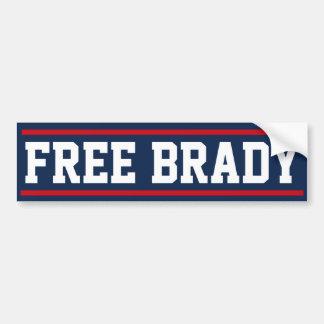 Fri Brady bildekal