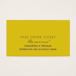 Fri drinkbiljett för enkel design visitkort