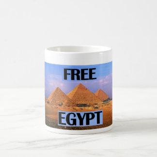 Fri egypten - presentera pyramiderna kaffemugg
