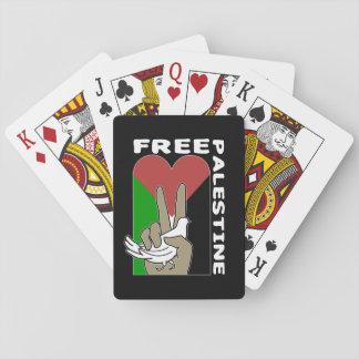 Fri fredstecken för Palestina duvahjärta Spelkort
