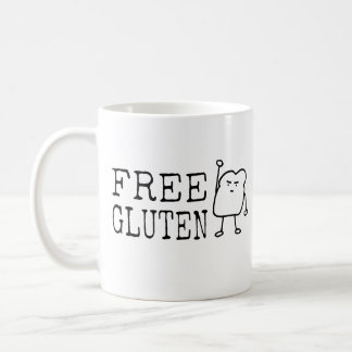 Fri Gluten - gullig rolig brödaktivistsatir Kaffemugg