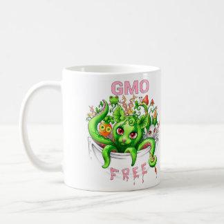 Fri GMO (genetiskt ändrade organismer) Vit Mugg