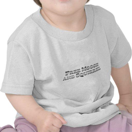 Fri grundläggande älg och ekorre - t-shirts