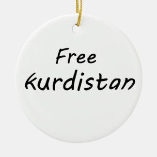 Fri Kurdistan Rund Julgransprydnad I Keramik
