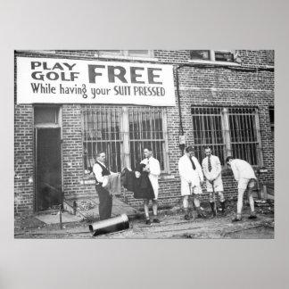 Fri lekGolf (stunder som har din kostym att trycka Poster