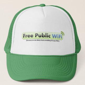 Fri offentlig WiFi hatt för PSA Truckerkeps