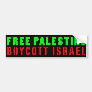 FRI PALESTINA BOJKOTT ISRAEL - bildekal