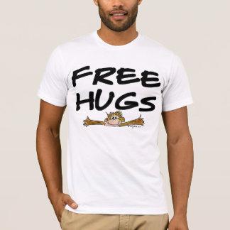 Fri skjorta för kramtecknadapa T T-shirts