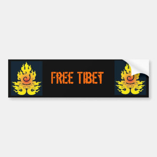 Fri Tibet bildekal