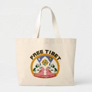 Fri Tibet Emblem Jumbo Tygkasse