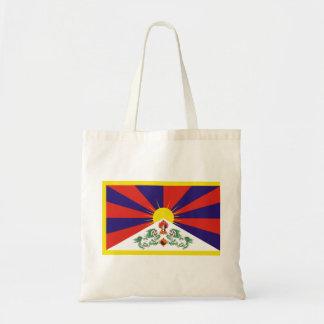 Fri Tibet flagga - ་ för བཙན för ་ för རང för Peu Budget Tygkasse