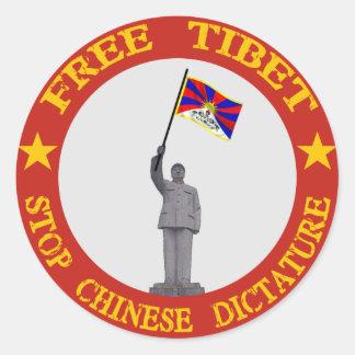 Fri Tibet klistermärke