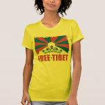 Fri Tibet T skjorta Tshirts