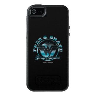 Fri undra kvinna & grafisk modig Grunge OtterBox iPhone 5/5s/SE Skal