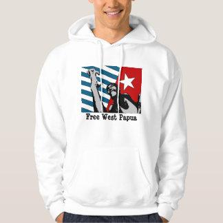 Fri västra Papua Hooded tröja
