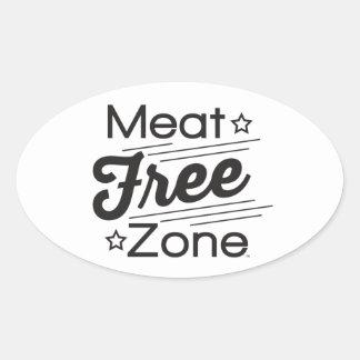 Fri zon klistermärke för kött