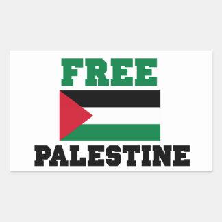Fria Palestina Rektangulärt Klistermärke