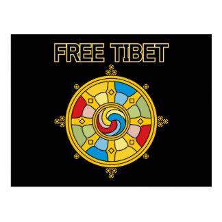 Fria Tibet Dharmacakra Vykort