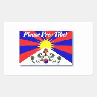 Fria Tibet Rektangulärt Klistermärke