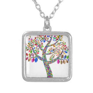 Friare-träd Silverpläterat Halsband