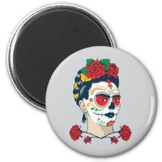Frida Kahlo   El Día de los Muertos Magnet