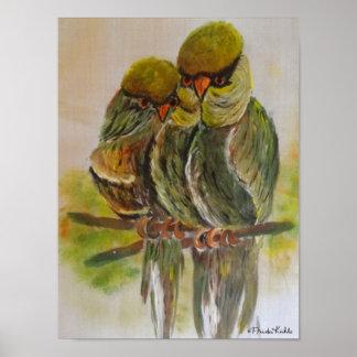 Frida Kahlo målade fåglar Poster
