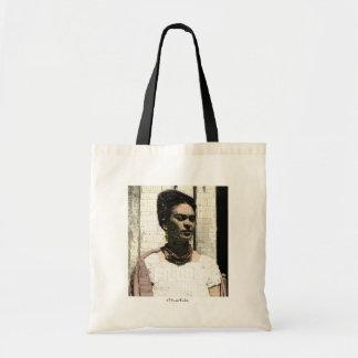 Frida Kahlo textilporträtt Budget Tygkasse