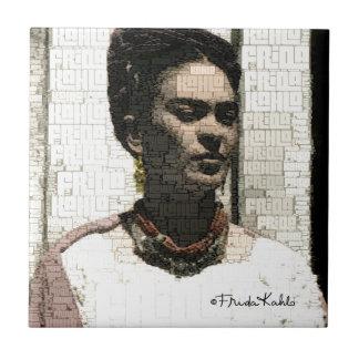 Frida Kahlo textilporträtt Liten Kakelplatta