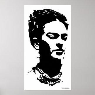 Frida skuggar porträtt poster