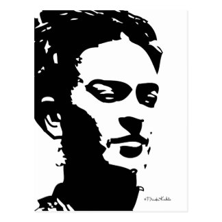 Frida skuggar porträtt vykort