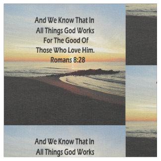 FRIDFULL SCRIPTURE FÖR SOLUPPGÅNGROMANS8:28 TYG
