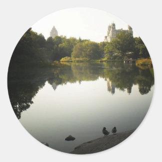 Fridfulla Central Park landskap, New York City Runt Klistermärke