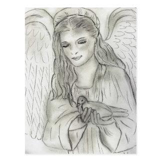 Fridsam ängel vykort