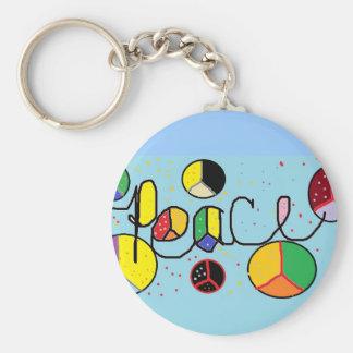fridsam färgkeychain rund nyckelring