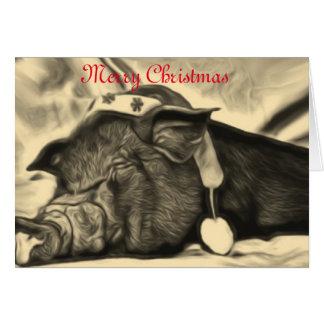 Fridsam grisjulkort hälsningskort