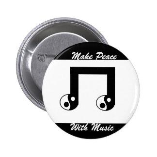 Fridsam musik knäppas standard knapp rund 5.7 cm