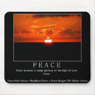 Fridsam solnedgång Mousepad med det Rumi Musmatta