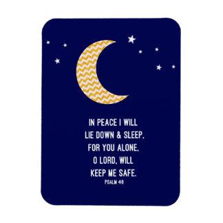 Fridsam sömn, måne, marinbakgrundsVerse Magnet