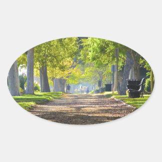 Fridsam väg ovalt klistermärke