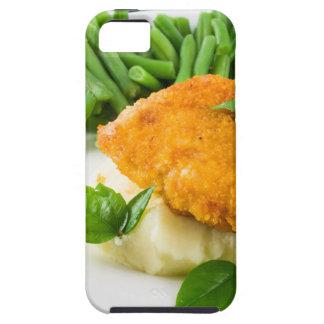 Fried panerade höna, haricot vert och mosar iPhone 5 Case-Mate skal