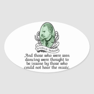 Friedrich Nietzsche Ovalt Klistermärke